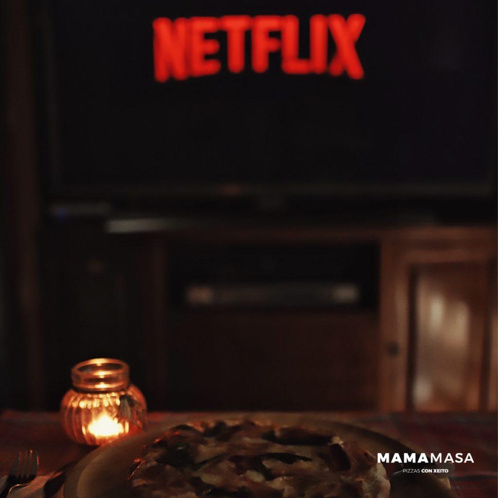 Noche de relax con cine y pizza